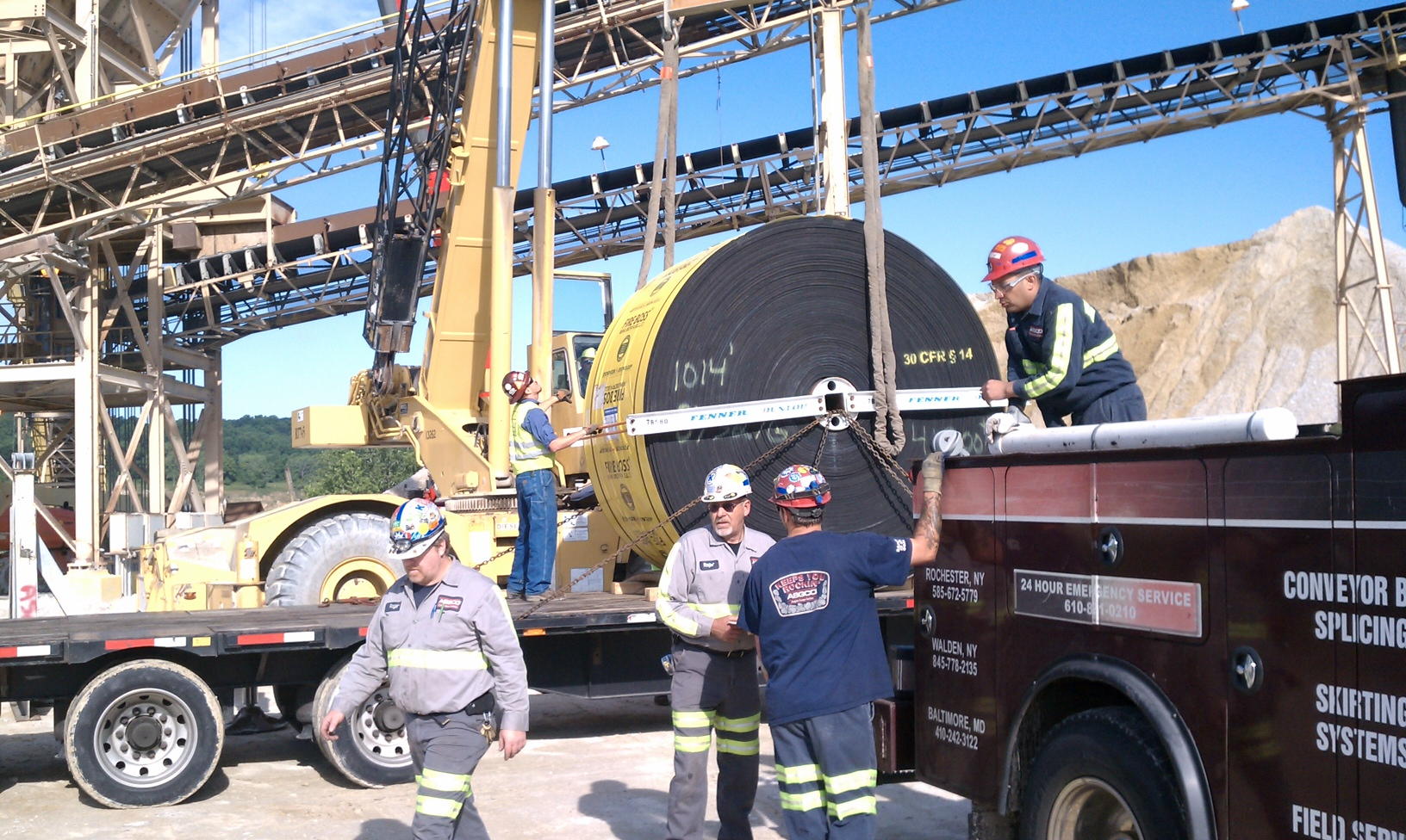 All of our field service technicians are all MSHA certified and trained to make sure that safety is our #1.