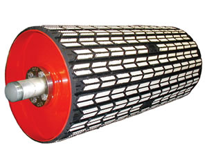 Arrowhead Ceramic Conveyor Pulley Lagging.  Increase productivity and Improve belt tracking.