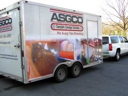 Exterior shot of ASGCO's mobile show room.