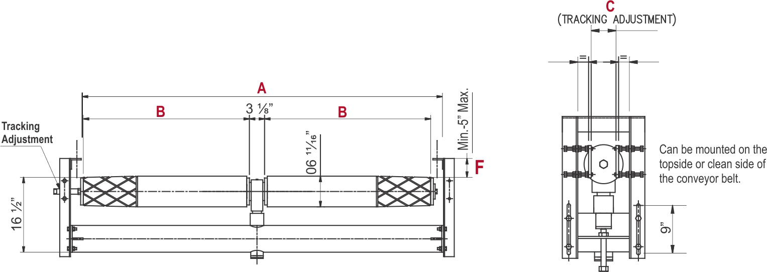 TT Dual Return Idler_diagram drawing 2_web