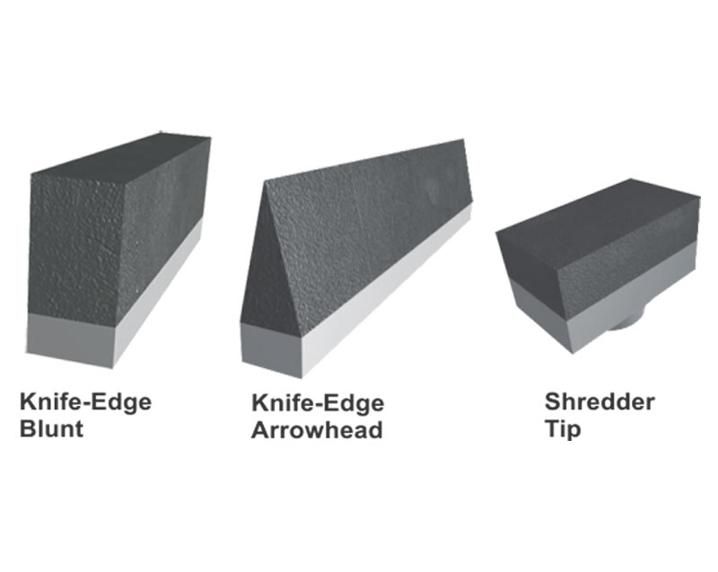 Armorite Conveyor Wear Knife Edge Amp Shredder Tips Asgco