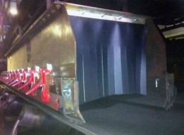 Dust Control Curtains in application.