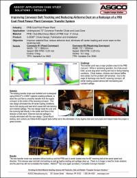 Improving Conveyor Belt Tracking And Reducing Airborne