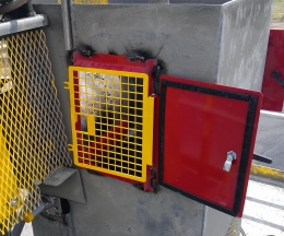 Safe-Guard Conveyor Inspection Door in application.