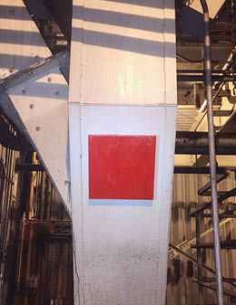 X-Wear™ Urethane Magnetic Patch installed on a power plant transfer chute