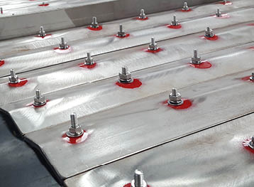 Magnetic Separator Conveyor Belt in Stainless Steel for Concrete Recycling Plant: Fabricated in our conveyor belt fabrications service area.