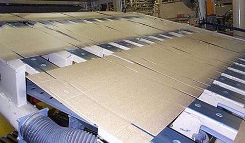 ASGCO Light Duty Conveyor Belting Corrugated Boxes on Conveyor