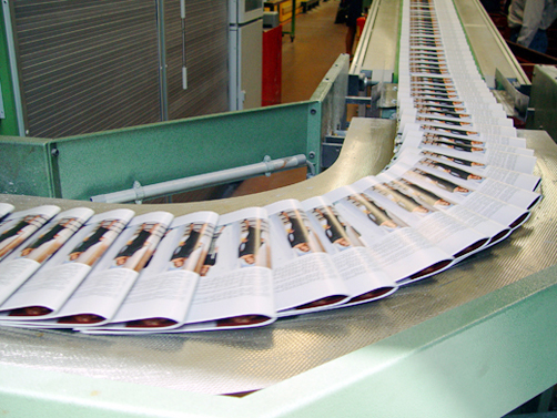 ASGCO Light Duty Conveyor Belting Newspaper on Conveyor