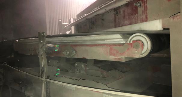 Lift Bed Diverter Plow at a cement manufacturer
