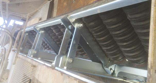 Installed Roller Cassette Impact Beds