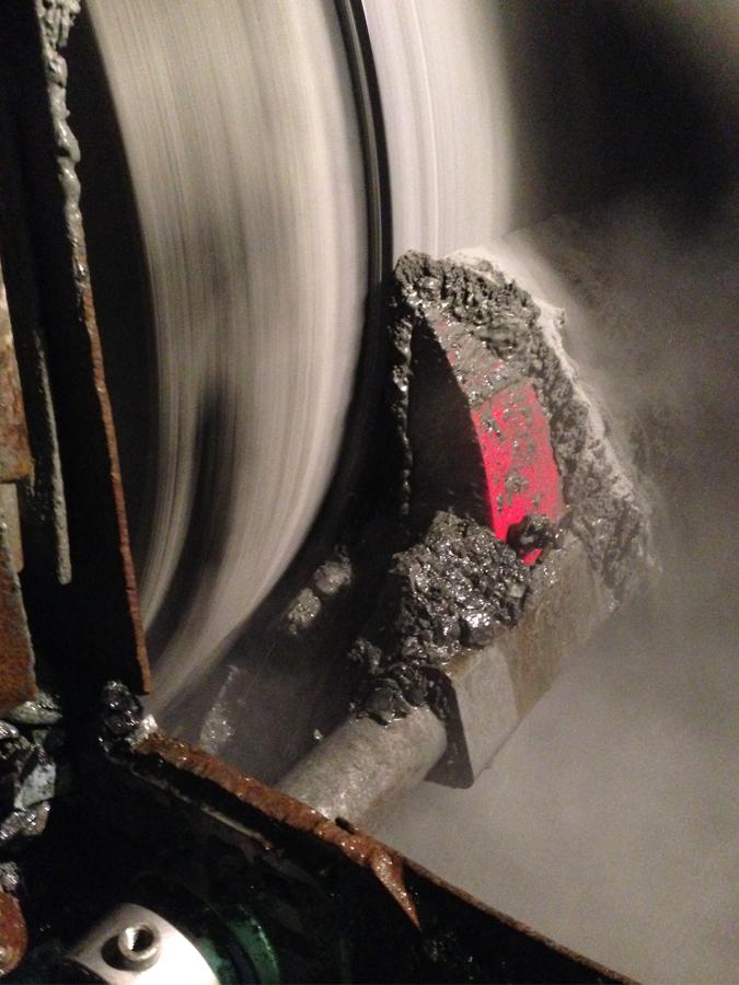 ASGCO Skalper MDX cleaning conveyor belt at copper mine