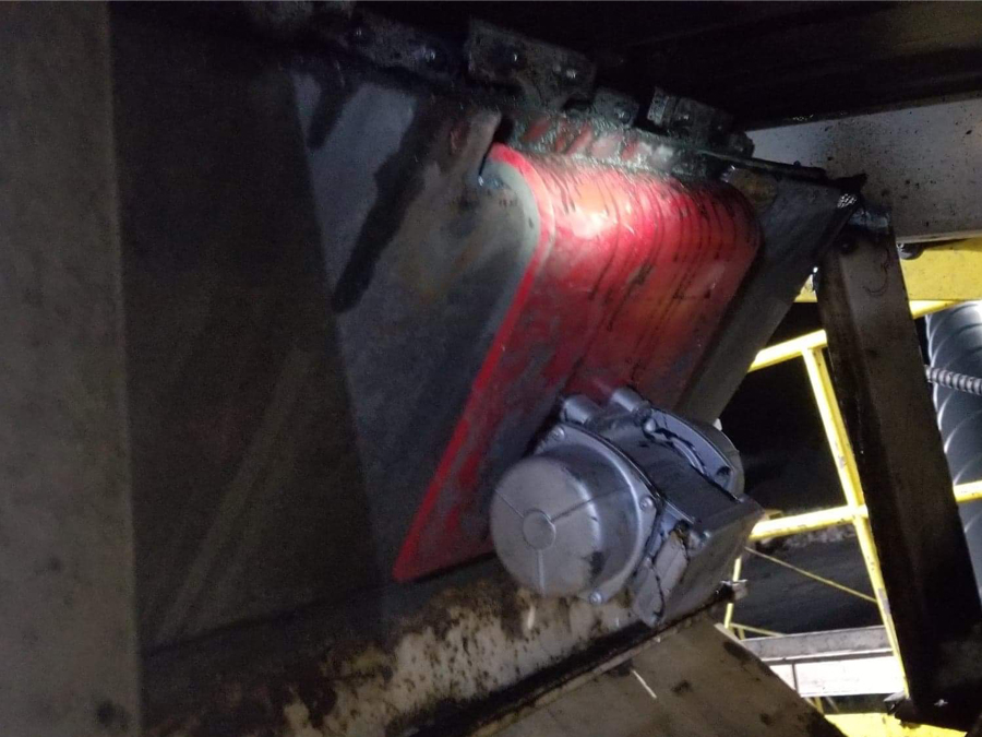 ASGCO Vibrating Dribble Chute install
