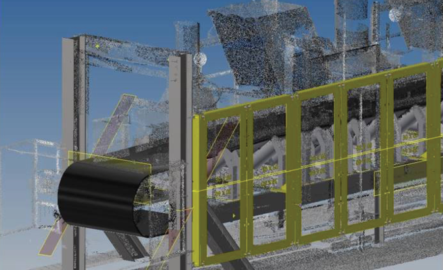 conveyor guarding, safety, installation, point cloud scanning