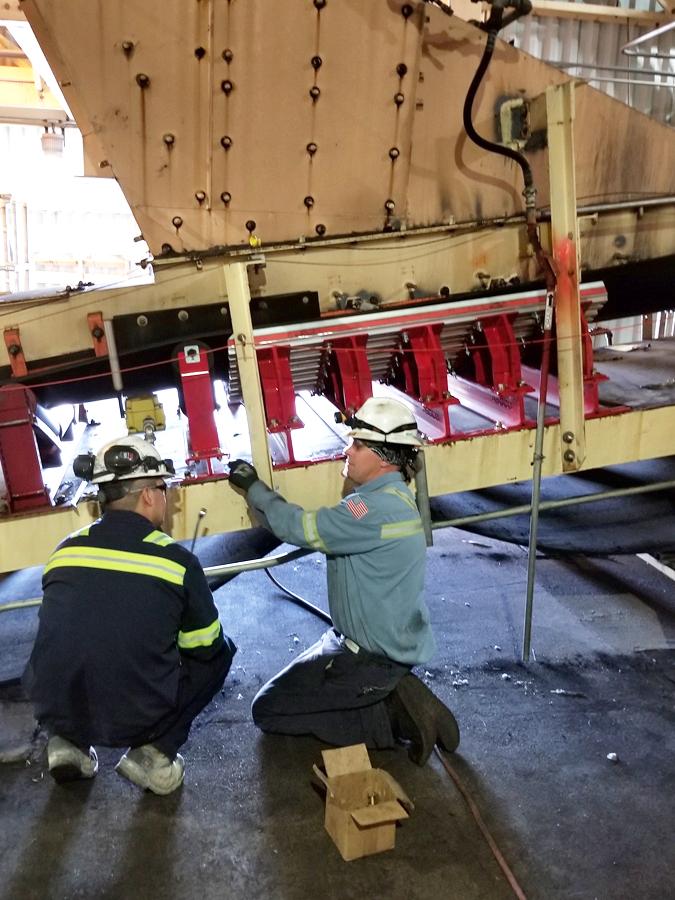 asgco impact cradle bed conveyor belt load zone