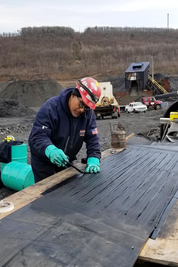 asgco service technician conveyor belt repair and splicing