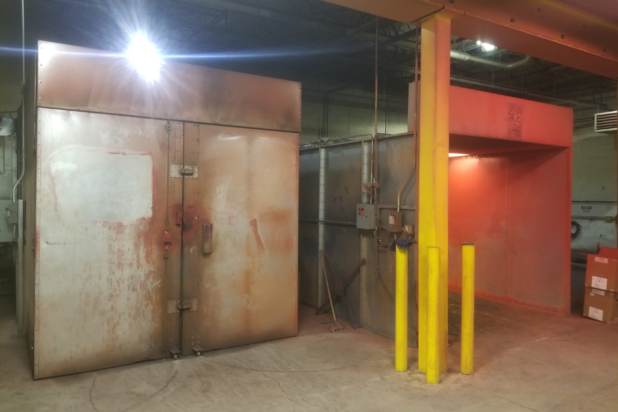 asgco lehigh valley steel fabrication Powder Coating Oven and Booth