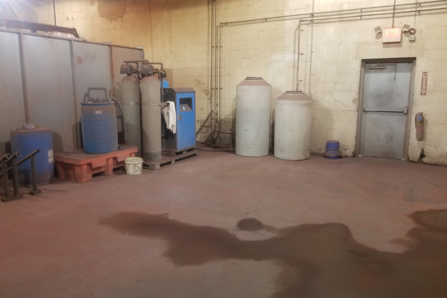 asgco lehigh valley steel fabrication Powder Coating Pre-Wash area