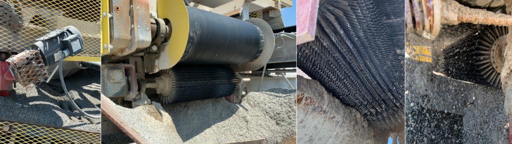 asgco chevron brush cleaner motorized system installed Belt cleaner