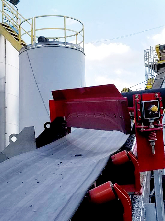ASGCO Lift Bed Diverter Plow Belt Cleaning System